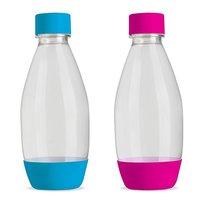 Sodastream Fuse Duo Flessen 0.5L 2 stuks Roze en Blauw