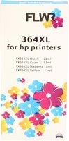 FLWR HP 364XL Multipack zwart en kleur (Huismerk (compatible))