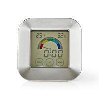 Nedis KATR105SI Hygrometer Temperatuurmeter Tijd Touch-screen