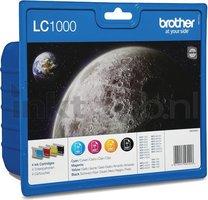 Brother LC-1000 multipack zwart en kleur (Origineel)