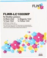 FLWR Brother LC-970 - LC-1000 Multipack zwart en kleur (Huismerk (compatible))