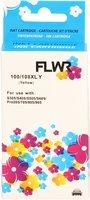 FLWR Lexmark 100XL geel (Huismerk (remanufactured))