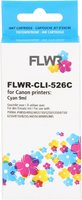 FLWR Canon CLI-526C cyaan (Huismerk (compatible))