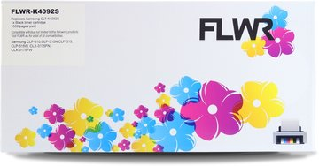 FLWR Samsung CLT-K4092S zwart (Huismerk (compatible))