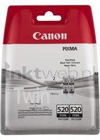 Canon PGI-520BK twinpack zwart (Origineel)