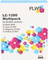 FLWR Brother LC-1280XL Multipack zwart en kleur (Huismerk (compatible))
