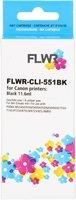 FLWR Canon CLI-551BK zwart (Huismerk (compatible))