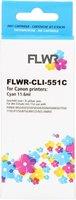 FLWR Canon CLI-551C cyaan (Huismerk (compatible))
