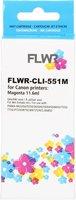 FLWR Canon CLI-551M magenta (Huismerk (compatible))
