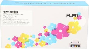 FLWR Samsung CLT-C406S cyaan (Huismerk (compatible))