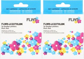 FLWR Brother LC-227BK 2-pack zwart (Compatible XXL)