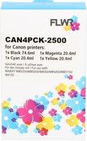 FLWR Canon PGI-2500XL Multipack zwart en kleur (Compatible XXL)