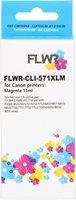 FLWR Canon CLI-571 XL magenta (Huismerk (compatible))