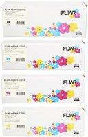 FLWR Oki C301 / C321 zwart en kleur (Huismerk (compatible))