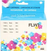 FLWR HP 940XL Multi-Pack zwart en kleur (Huismerk (remanufactured))