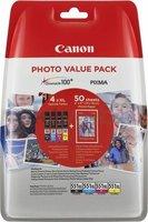 Canon CLI-551XL Multipack zwart en kleur (Origineel Hoge Capaciteit)