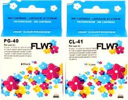FLWR Canon PG-40 / CL-41 Multipack zwart en kleur (Huismerk (remanufactured))