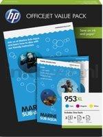 HP 953 XL Officejet Value Pack kleur (Origineel Hoge Capaciteit)