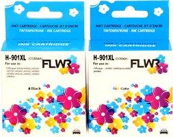FLWR HP 901XL Multipack zwart en kleur (Huismerk (remanufactured))
