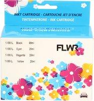 FLWR HP 88XL 4-pack zwart en kleur (Huismerk (compatible))