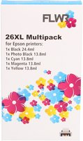 FLWR Epson 26XL Multipack 5-pack zwart en kleur (Huismerk (compatible))