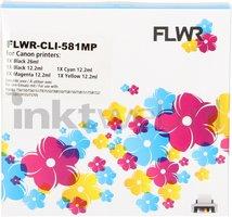 FLWR Canon CLI-581XXL Multipack zwart en kleur (Compatible XXL)