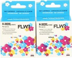 FLWR HP 302XL Multipack zwart en kleur (Huismerk (remanufactured))