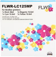 FLWR Brother LC-125XL - LC-127XL 4-pack zwart en kleur (Compatible XXL)