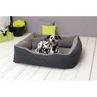 Sun Garden Luxe Hondenmand Lucky + Kussen 80x70x20cm Grijs