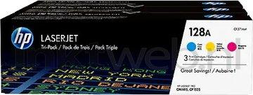 HP 128 3-pack kleur (Origineel)