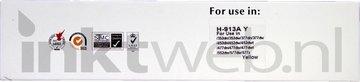Huismerk HP 913A geel (Huismerk (compatible))