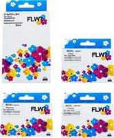 FLWR HP 903XL 4-pack zwart en kleur (Huismerk (compatible))