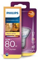 Philips Ledclassic 80w Gu10 Cri90 Ww 36d Wgd 1bc Verlichting