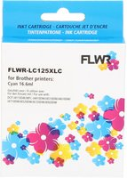 FLWR Brother LC-125XLC cyaan (Compatible XXL)