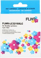 FLWR Brother LC-3219C cyaan (Huismerk (compatible))