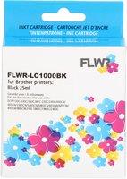 FLWR Brother LC-970BK / LC-1000BK zwart (Huismerk (compatible))