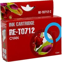 FLWR Epson T0712 cyaan (Compatible XXL)