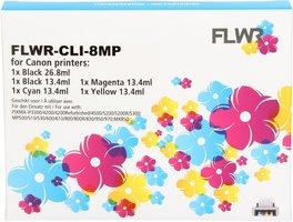 FLWR Canon CLI-8 Multipack zwart en kleur (Compatible XXL)