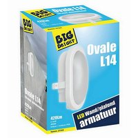 Big Bright Ovale L14 LED Plafond/Wandlamp 6W 4000K 420LM 17cm