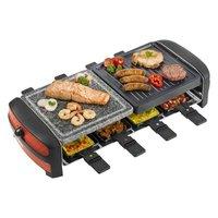 Bestron ARC800 Raclette Grill Zwart/Rood
