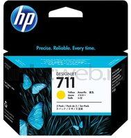 HP 711 3-pack geel (Origineel)