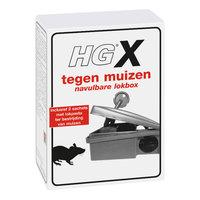 HG HGX Tegen Muizen Navulbare Lokbox + 2 Sachets