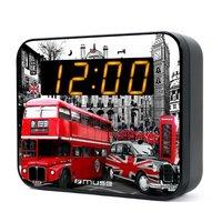 Muse M-165LD Wekkerradio Londen Zwart/Rood