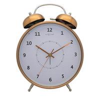 NeXtime NE-5113CO Wekker Dia. 23 Cm, Metaal, Koper, 'Wake Up'