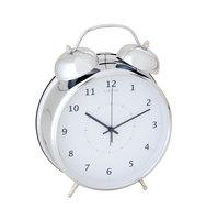 NeXtime NE-5113ZI Wekker Dia. 23 Cm, Metaal, Zilver, 'Wake Up'