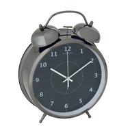 NeXtime NE-5113ZW Wekker Dia. 23 Cm, Metaal, Zwart, 'Wake Up'