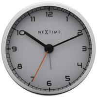 NeXtime NE-5194WI Wekker 9 X 9 X 7.5 Cm, Metaal, Wit, 'Company Alarm'