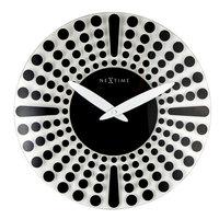 NeXtime NE-8182ZW Wandklok Dia. 43 Cm, Glas, Zwart, 'Dreamtime'