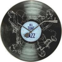 NeXtime NE-8184 Wandklok Dia. 43 Cm, Glas, 'All That Jazz'