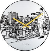 NeXtime NE-8191 Wandklok Trumpet City Ø 40 Cm